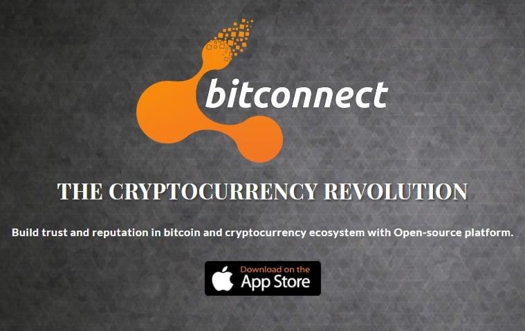 así luce el logo de Bitconnect, un esquema piramidal - estafas criptomonedas