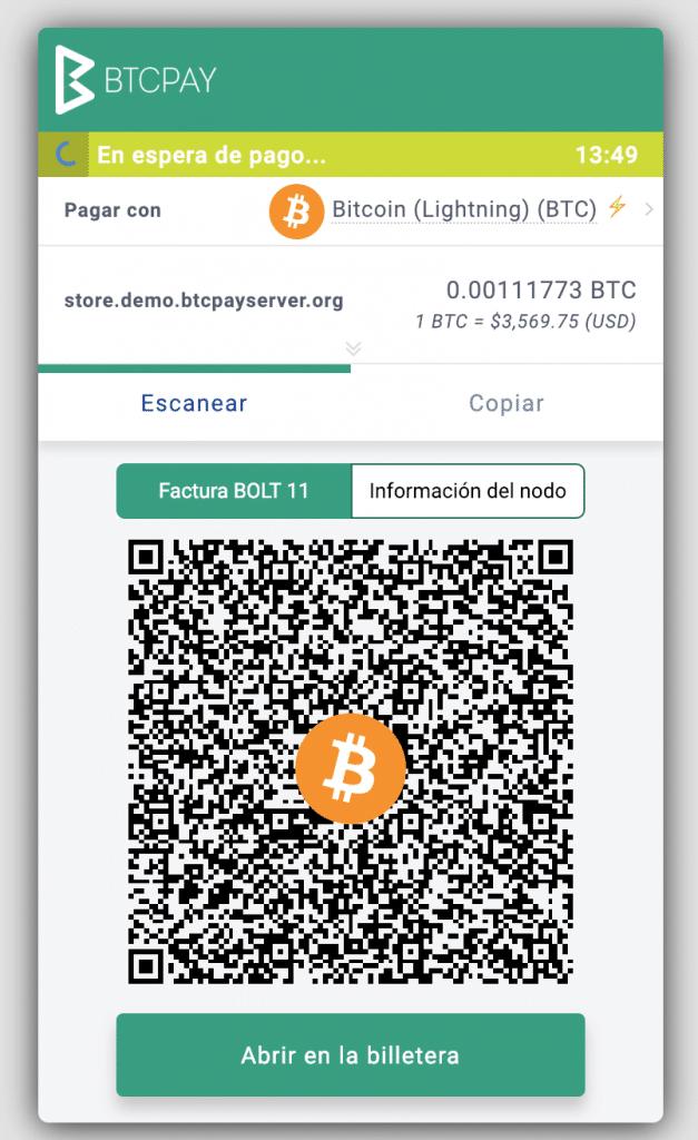BTCPay Dorier Lightning Bitcoin