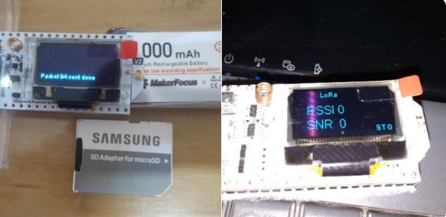 Dispositivo Turpial en comparación a un adaptador USD. Fuente @Locha_io Twitter