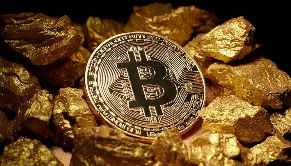 oro bitcoin capitalización