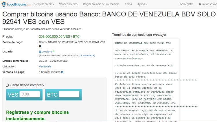 comprar criptomonedas Venezuela
