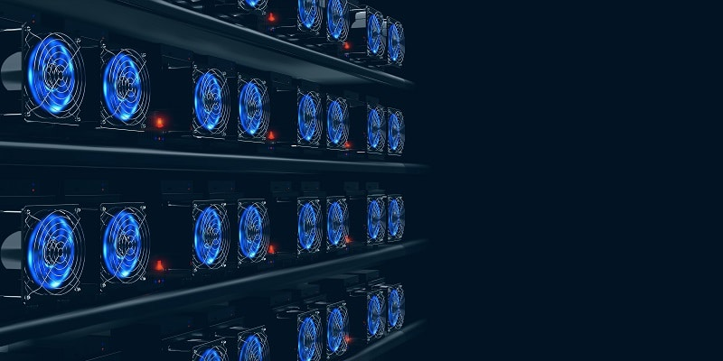 mineros ASIC de un pool de Bitcoin