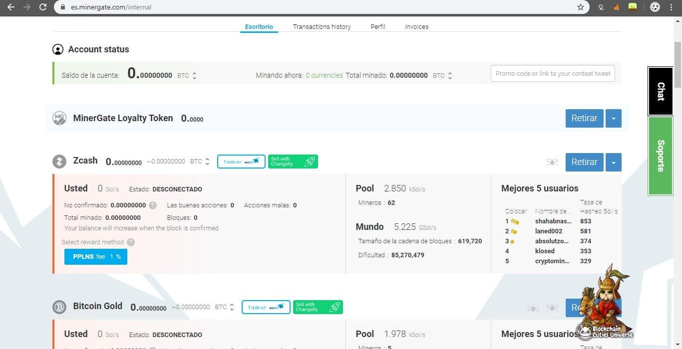 Seleccionar método de pago en MinerGate - tutotial CriptoNoticias
