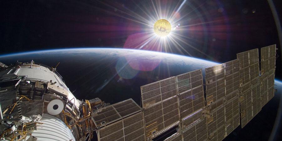 estación-espacial-bitcoin-nodo-monedero