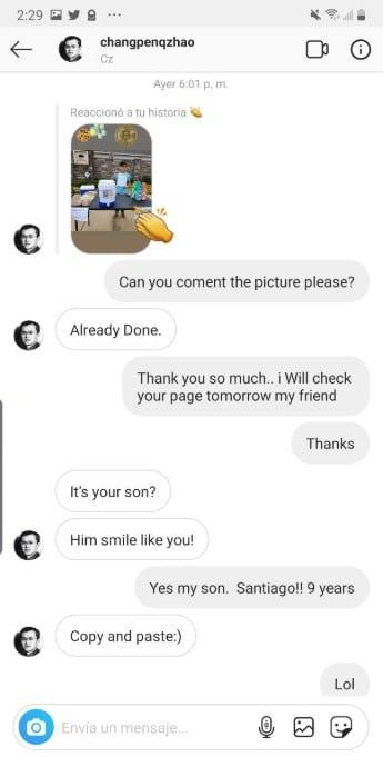 Instagram identificada com o nome do renomado Changpeng Zhao