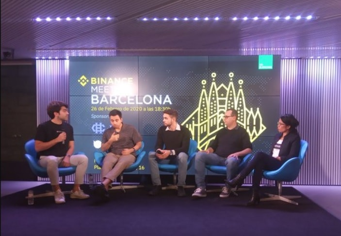 Panelistas del Meetup de Binance en Barcelona