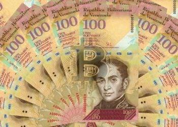 billetes venezolanos revaluados arte bitcoin