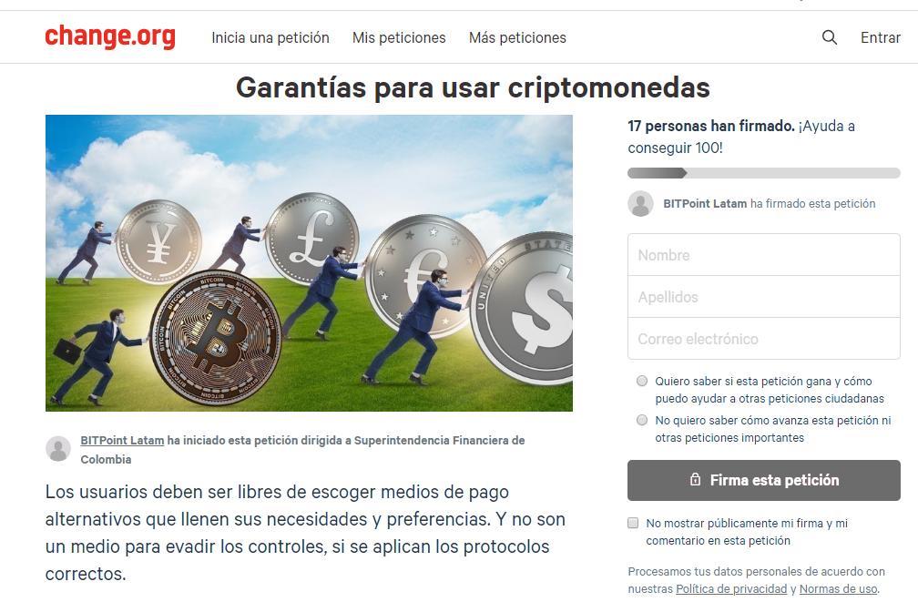 superintendencia-colombia-petición-bitcoin-criptomonedas
