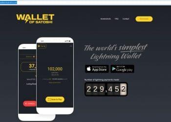 Portal principal de de Wallet of Satoshi. Fuente: Wallet of Satoshi.