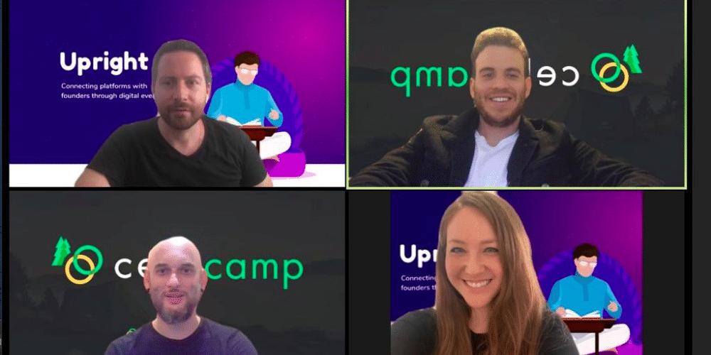 Alon Shavit, Tomer Weiss, Noam Sahar Maman y Rachel Jakob del equipo Celo Camp. Fuente: Celo Camp Blockchain Accelerator.