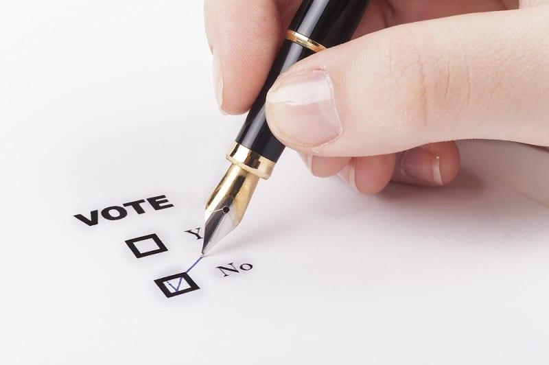 Elección de opción de voto. Fuente:  orcearo/elements.envato.com