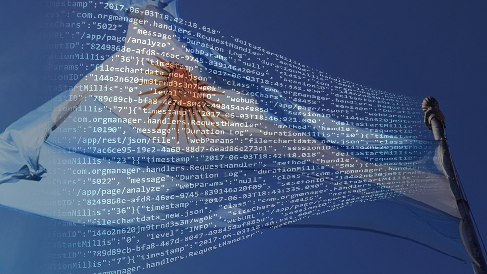 Blockchain Smart Contracts Argentina Bandera