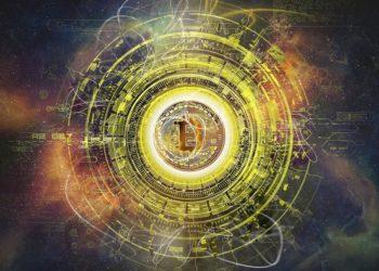 Representación de blockchain y logotipo de bitcoin. Imagen de Pete Linforth/pixabay.com