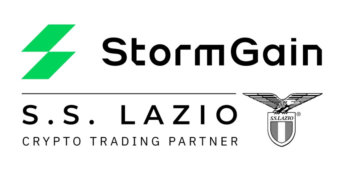 Asociacion del exchange StormGain con S.S. Lazio