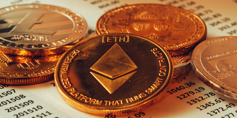 Ethers en moneda. Fuente: stevanovicigor/ Envato Elements.