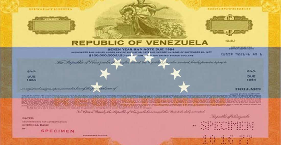 Bono de Venezuela sobre bandera de ese país. Fuente: es.wikipedia.org y sites.google.com