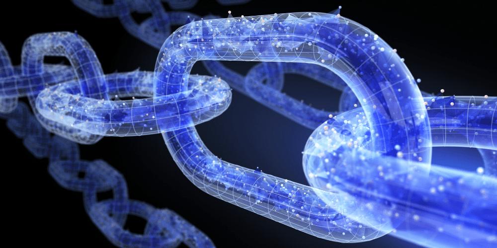 Una cadena digital que ejemplifica el concepto de blockchain. Fuente: iLexx/ Envato Elements.
