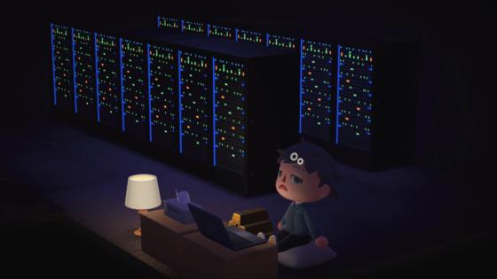 Crearon replica de una granja de minería de Bitcoin en el juego Animal Crossing