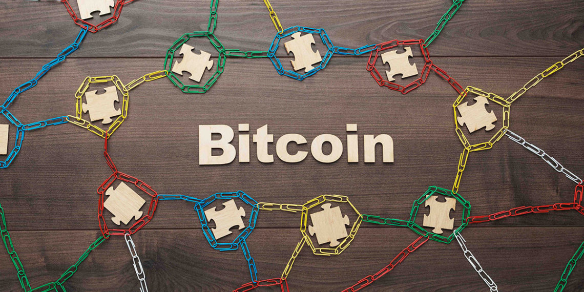 Concepto de Bitcoin y blockchain. Fuente: garloon/Envato Elements