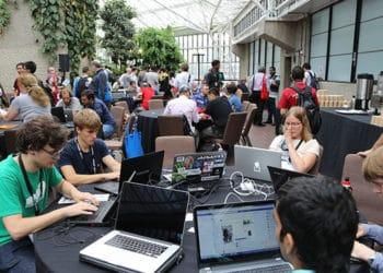 Reunión de un evento virtual. Fuente: Alan Dawson/Wikipedia.