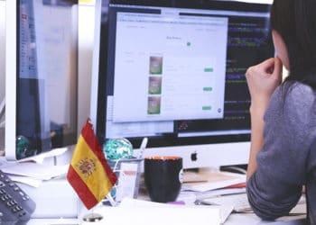Spain-Bandera-Oficina
