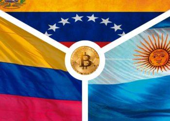 Composición realizada por CriptoNoticias con las imágenes: Argentina. Fuente: Ceci Newton/Flikr; Colombia: Fuente: Colom Brito/Flikr; Wallpapper