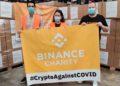 Recepción de las donaciones realizadas por Binance a España. Fuente: Binance.