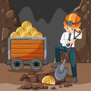 Un minero extrayendo criptomonedas
