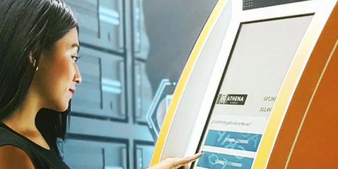 Los cajeros automáticos de Athena Bitcoin ahora permiten la opción de comprar y vender ether en Argentina. Fuente: athenabitcoin.com.co