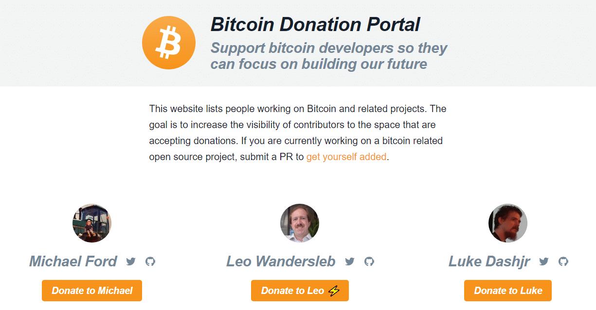 donation portal pagina web