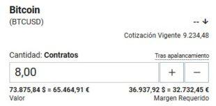 Contrato por diferencia Bitcoin Plus500