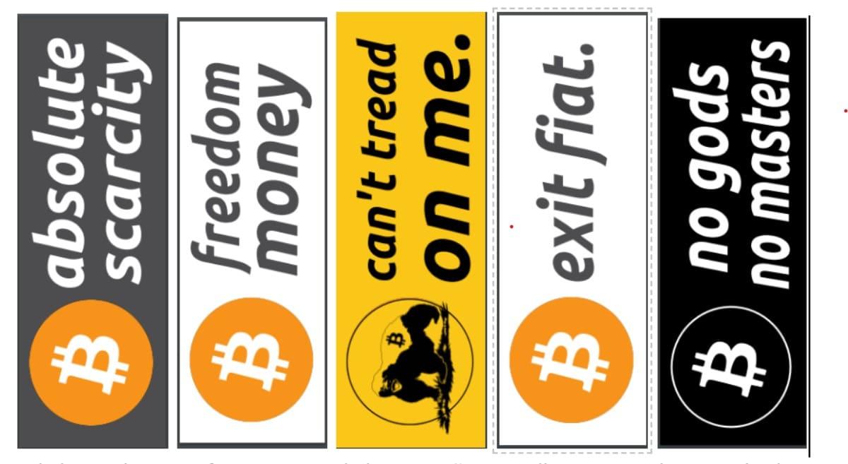 stikers movimiento social bitcoin