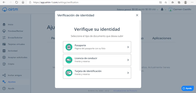 documento verificación usuarios