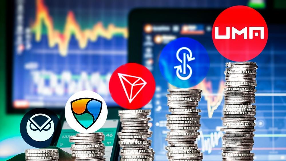 mercado-criptomoendas-UMA-NEM-DEFI-tokens