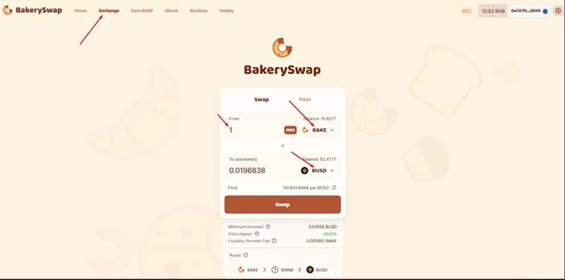 valor-token-Bakery-swap-BUSD