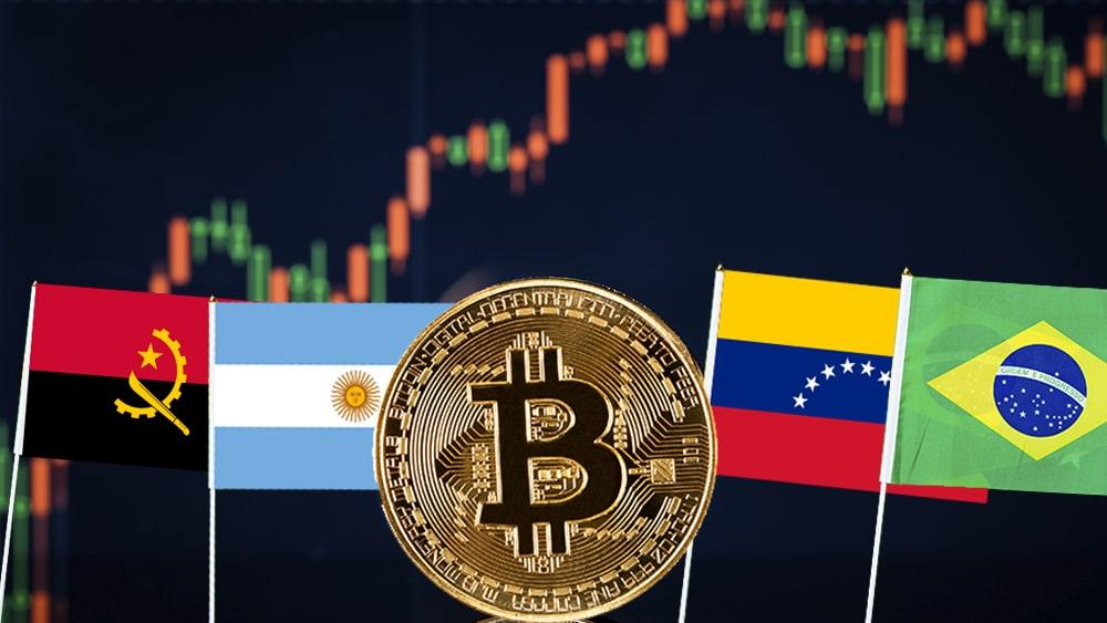 aumento precio bitcoin Brasil Argentina Venezuela