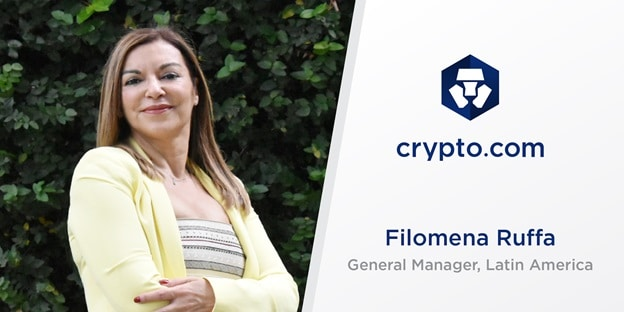 Nueva ejecutiva de Crypto.com para LATAM