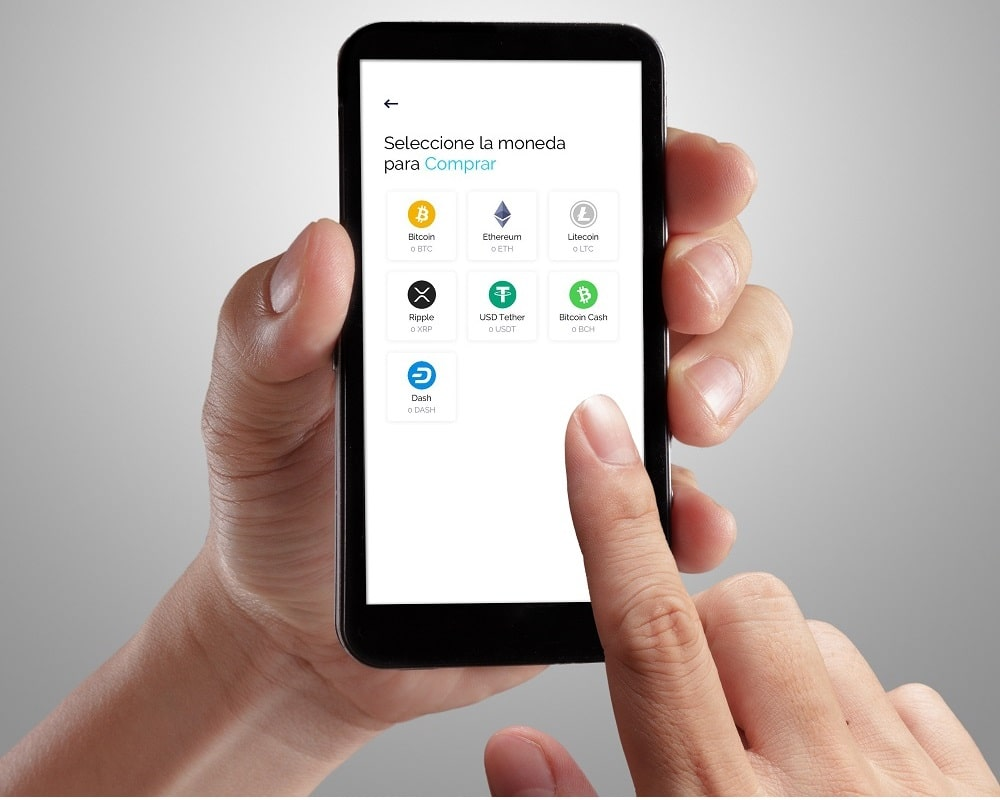 Haciendo una transacción en la App móvil de Obsidiam