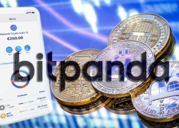 Bitpanda lanza índices de criptomonedas. Composición por CriptoNoticias. bitpanda / bitpanda.com ; bitpanda / bitpanda.com.com ; @pvproductions / Freepik.com