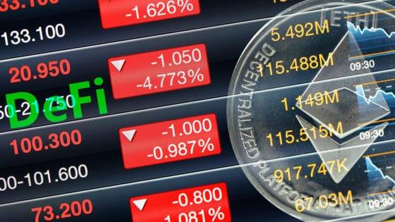 Mercado DeFi de Ethereum en rojo con pérdidas de hasta 90% por token