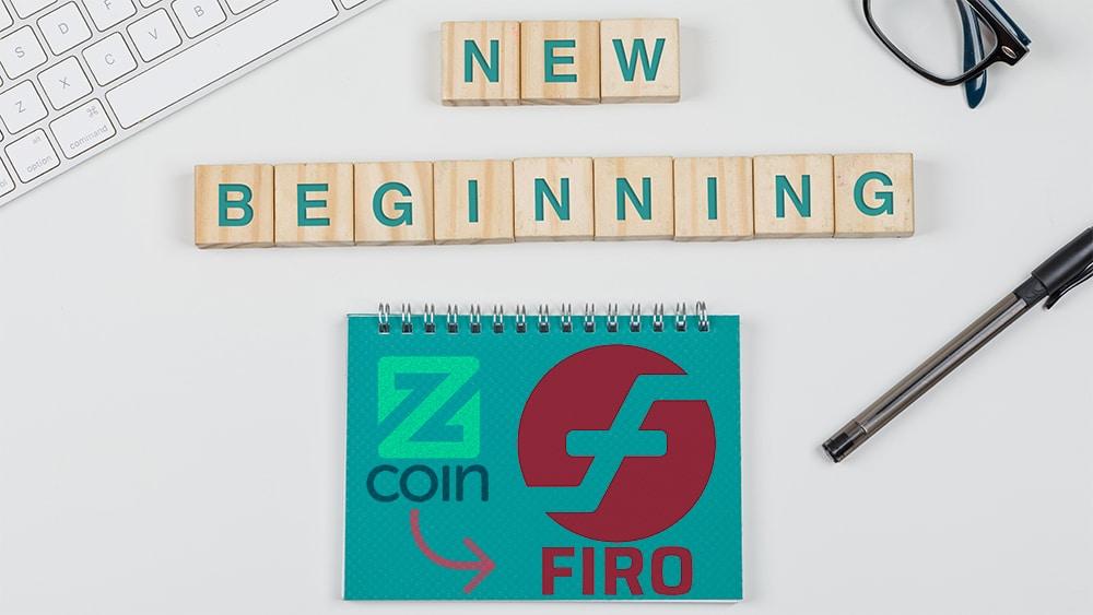 cambio logo nombre Zcoin Firo