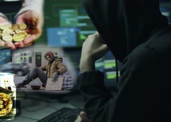 caridad bitcoins robo donacion
