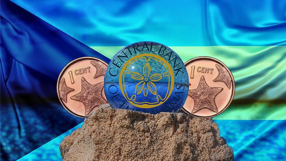 Moneda Digital del Banco Central de las Bahamas. Composición por CriptoNoticias. Central Bank of The Bahamas / centralbankbahamas.com ; @CentralbankBS1 / Twitter.com ; Slon.pics / Freepik.com ; twenty20photos / elements.envato.com.