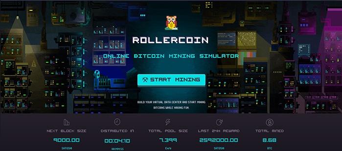 RollerCoin te permite minar criptomonedas de manera virtual