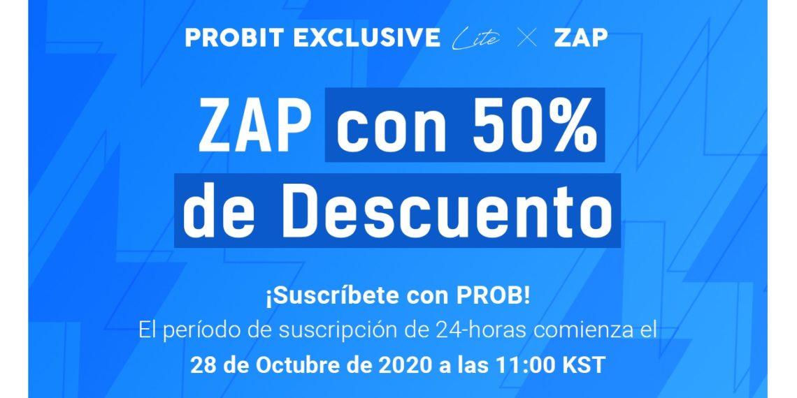 Protocolo ZAP cotiza en ProBit