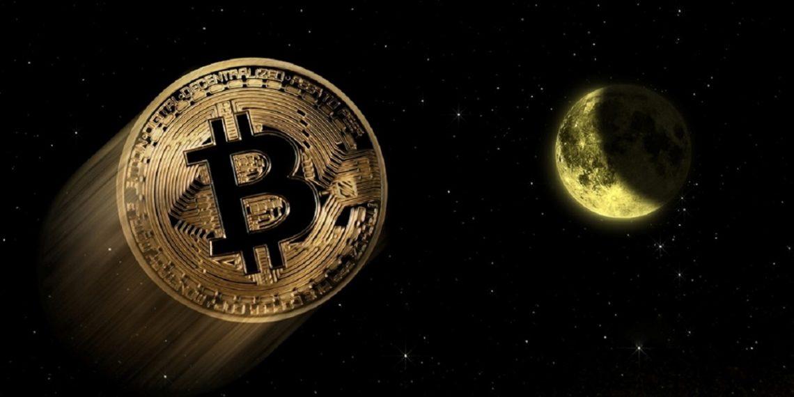 Precio de bitcoin se dispara a la luna