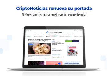 Nueva página de inicio de CriptoNoticias.