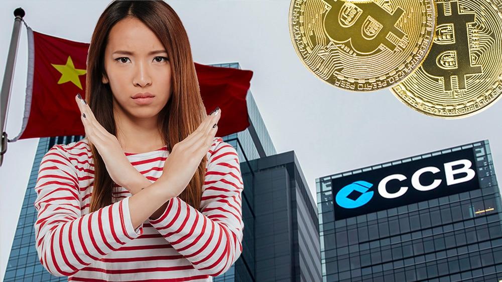 Mujer cruzando sus brazos frente a imagen del CCB con monedas de bitcoin. Composición por CriptoNoticias. @drobotdean / Freepik.com; fxssi / fxssi.com; jirkaejc / elements.envato.com