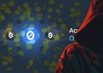 Hacker robo dólares Origin Dollar. Composición por CriptoNoticias. NOMBRE DEL AUTOR / elements.envato.com ; stevanovicigor / elements.envato.com.com; @OriginProtocol / Twitter.com.