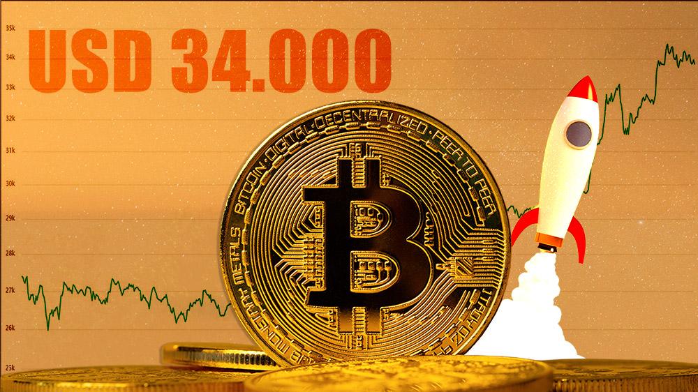 aumento precio bitcoin alto histórico criptomoneda mercado